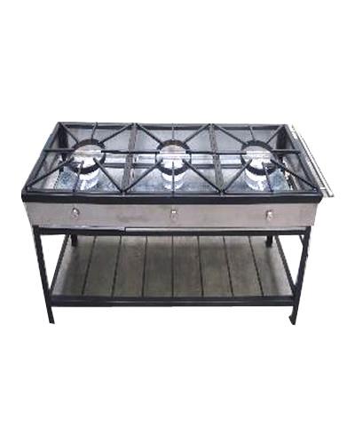 Cocina industrial lineal 03 hornillas a gas lp remate de for Estructura de una cocina industrial